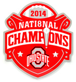 Ohio State 2014 National Champions Lasercut Steel Logo Sign Wall Sign