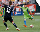 Jun 28, 2014 - MLS: Seattle Sounders vs D.C. United - Marco Pappa, Bobby Boswell Print by Geoff Burke