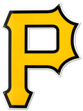 Pittsburgh Pirates P Lasercut Steel Logo Sign Wall Sign