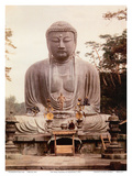 The Great Buddha of Kamakura (Daibutsu) Statue - Ktoku-in Temple, Japan Posters by Inc., Pacifica Island Art