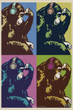 Steez Monkey Thinker Quad Pop-Art Plakater