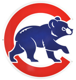 Chicago Cubs Bear in C Lasercut Steel Logo Sign Wall Sign