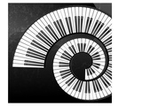 Abstract Piano Keys Spiral Art