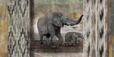 Tribal Elephants Lámina por Edward Selkirk