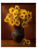 Clay Pot Sunflowers Still Life Print