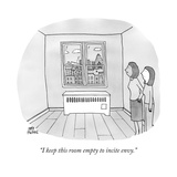 """I keep this room empty to incite envy."" - New Yorker Cartoon Premium Giclee Print by Amy Hwang"