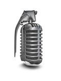 Microphone Grenade Art