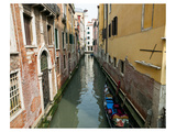 Hidden Canal in Venice Italy Poster