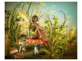 Fairy Enjoying Last Sunbeams Prints