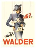 Walder - Switzerland - Swiss Shoe Store - Schuhhaus Walder AG Posters by Viktor Rutz