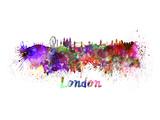 London Splatter Skyline Posters