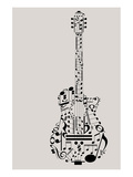 Musical Symbols & Notes Guitar Posters