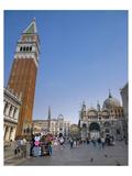 St Marks Square Venice Italy Giclee-tryk i høj kvalitet