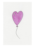 Pink Heart Shaped Balloon Posters