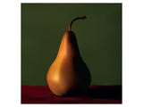 Gold Pear Red Table Green Wall Art
