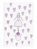 Ballerina Cupcake Hearts Prints