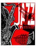 Saxaphone Jazz Festival Poster Prints