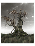 Dragons on a Gnarled Tree Posters
