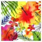 Jungle Hibiscus II Plakater af Margaret Berg