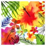 Jungle Hibiscus II Prints by Margaret Berg
