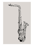 Saxophone of Musical Symbols Posters