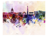 Splashes Washington Dc Skyline Prints