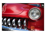 Red Car Grill and Headlight Poster