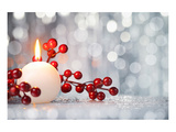Christmas Candle Ball &Hollies Prints