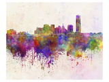 Oklahoma City Splatter Skyline Prints