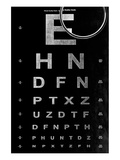 Eye Chart & Magnifying Glass Print