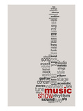 Guitar Music Poster Posters