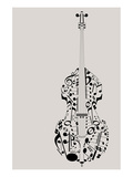 Contrabass of Musical Symbols Art