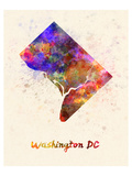 Washington Dc Splatter Skyline Posters