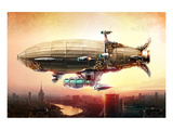 Graf Zepplin Fantasy Dirigible Prints
