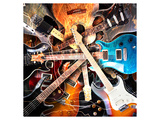 Radial Electric Guitar Layout Posters