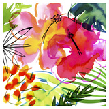 Jungle Hibiscus I Posters by Margaret Berg