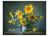 Sunflowers & Shawl Still Life Kunstdrucke