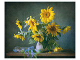 Sunflowers & Shawl Still Life Art