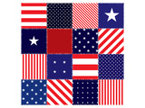 American Flag Quilt Pattern Prints