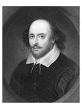 Shakespeare Portrait Engraving Prints