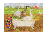Geese in Bathtub, 1998 Giclee Print by E.B. Watts