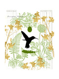 Garden Botanicals & Hummingbird Art by Devon Ross
