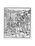 Tending a Snake Bite, from 'Das Buch Der Cirugia', 1497 Giclee Print by Hieronymus Brunschwig