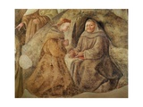 The Reform of the Carmelite Rule, Detail of Two Carmelite Friars, C.1422 Giclée-tryk af Fra Filippo Lippi