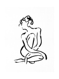 Gestural Figure Study Front Prints by Evangeline Taylor