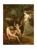 Diana and Endymion Giclee Print by Hugh Douglas Hamilton