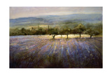 Lavender & Orchard Landscape Art by Ken Hildrew