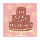 Cake Breakfast Posters by Lola Bryant