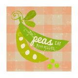 Gingham Peas Prints by Lola Bryant