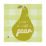 Gingham Pear Art by Lola Bryant